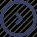 app, arrow, right, ui, web icon