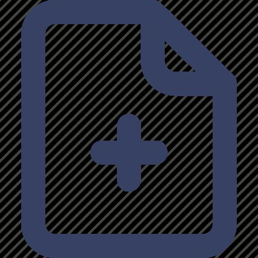 add, app, doc, document, plus, ui, web icon