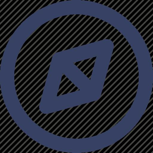 app, compas, location, navigation, ui, web icon