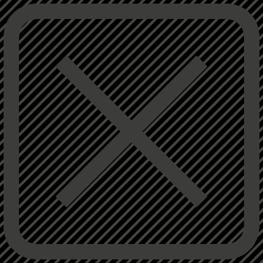 cancel, close, delete, exit icon