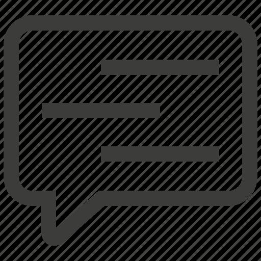 bubble, comment, conversation icon
