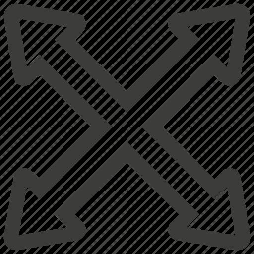 enlarge, expand, maximize icon