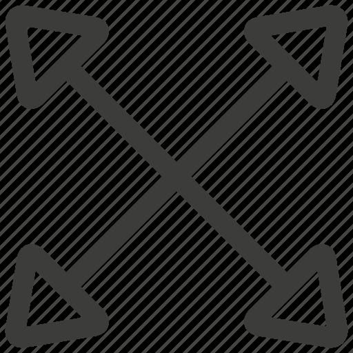 expand, fullscreen icon