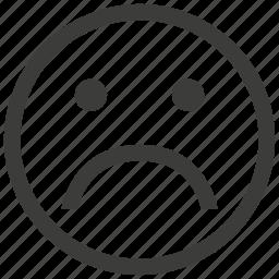 emotion, face, sad, unhappy icon