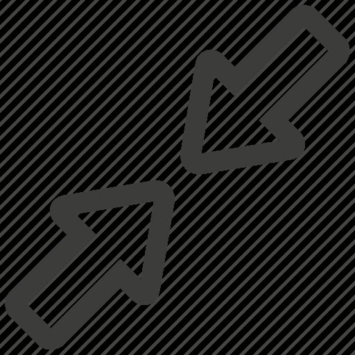 minimize, reduce, shrink icon