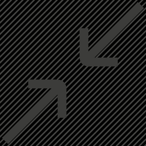 reduce, resize, shrink icon