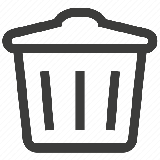 can, dustbin, recycle, trash icon