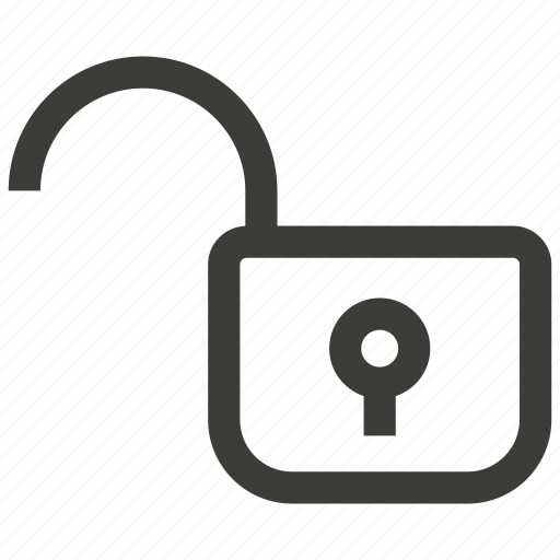 padlock, privacy, unlock icon