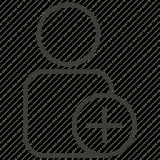account, add, new, profile, user icon