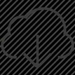 cloud, computing, download icon