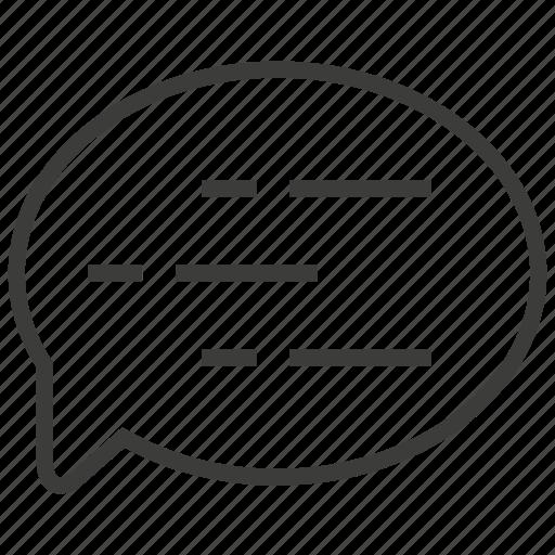 bubble, communication, conversation, typing icon