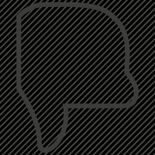 dislike, down, hand icon