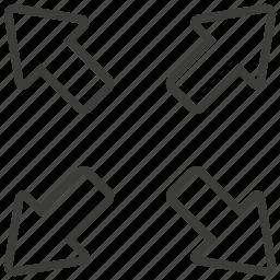 direction, expand, fullscreen icon