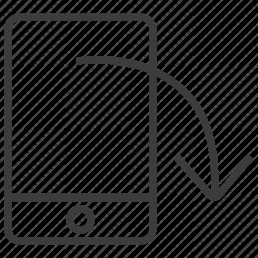 horizontal, phone, rotate, rotation icon
