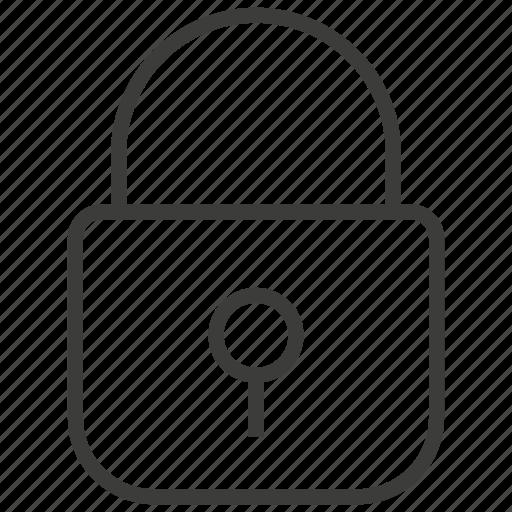 lock, locked, protection icon