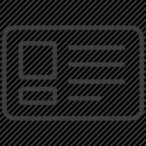 employee, id, namecard, office icon
