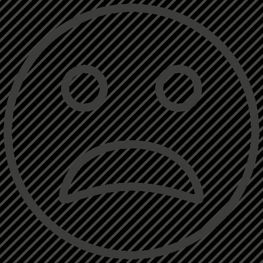 emoji, face, sad, unhappy icon