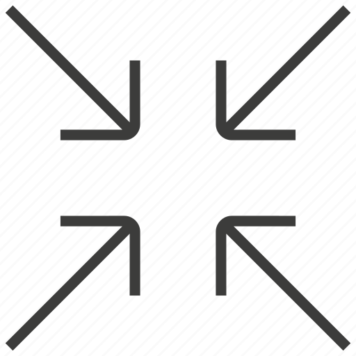 minimize, press, shrink icon