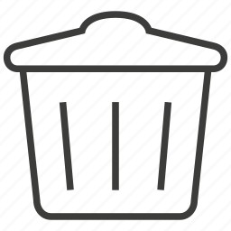 dustbin, garbage, recycle, trash icon