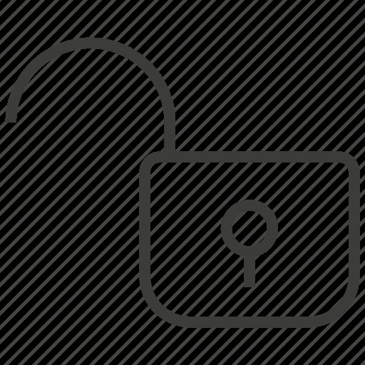 access, padlock, unlock icon