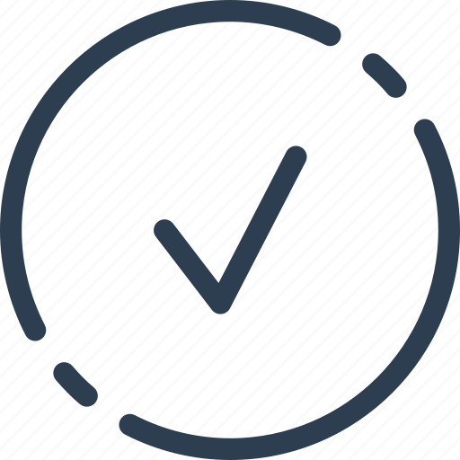 check, circle, done, mark, tick, ui, web icon