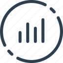 chart, circle, statistic, statistics, ui, web icon