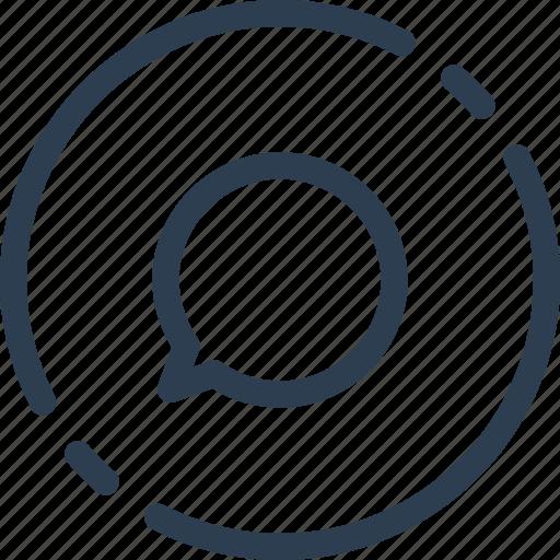 box, bubble, chat, circle, messege, ui, web icon