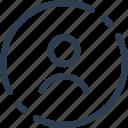 profile, web, account, ui, avatar, circle, user icon