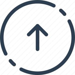 arrow, circle, previous, ui, up, way, web icon
