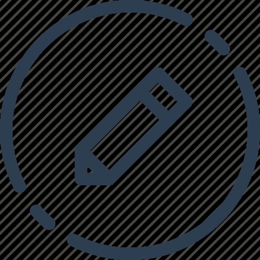 change, circle, edit, pen, pencil, ui, web icon