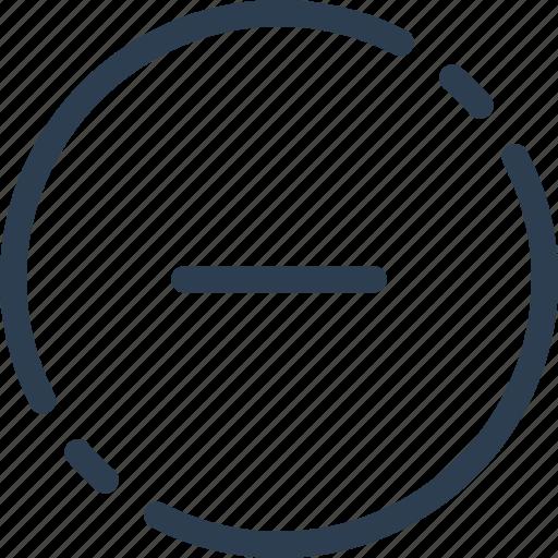 circle, decline, delete, minus, remove, ui, web icon