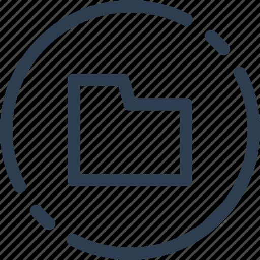 circle, doc, documents, file, folder, ui, web icon