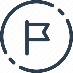 circle, flag, important, ui, web icon