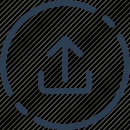 circle, outbox, send, ui, upload, web icon