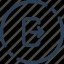 circle, log, logout, out, sign, ui, web icon