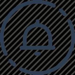 alarm, bell, circle, notification, reminder, ui, web icon