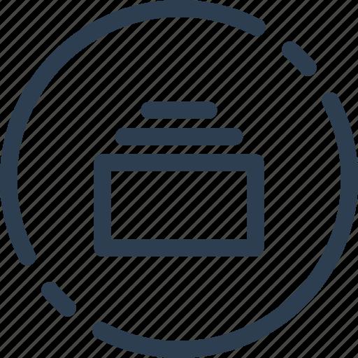 archive, circle, doc, file, storage, ui, web icon