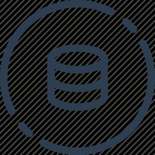 base, circle, data, database, storage, ui, web icon