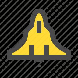 aircraft, airplane, f18, flight, plane, travel icon