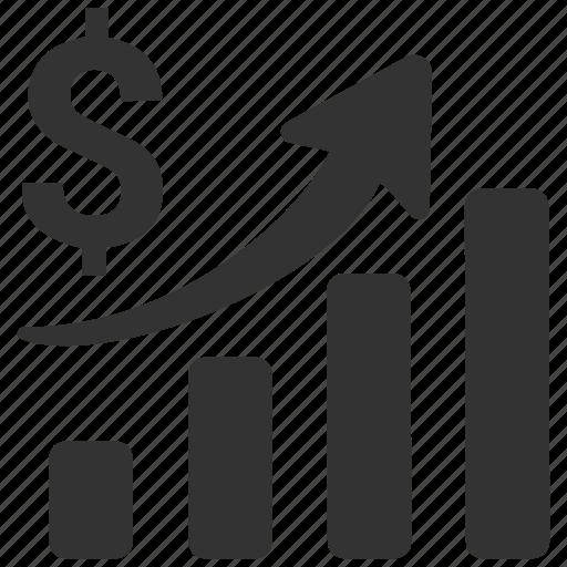 analysis, analytics, bar, business, business progress, chart, diagram icon