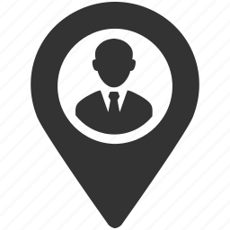 business, location, man, marker, pin, place, placement icon