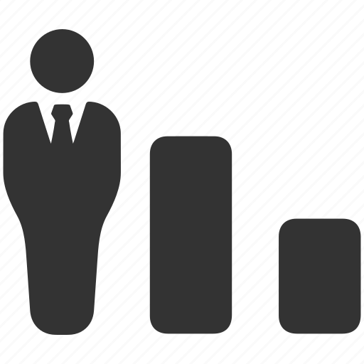 bars, business, down, fall, presentation icon