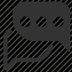 blogging, bubble, bubbles, chat, chat bubble, chatting, comment, communication icon