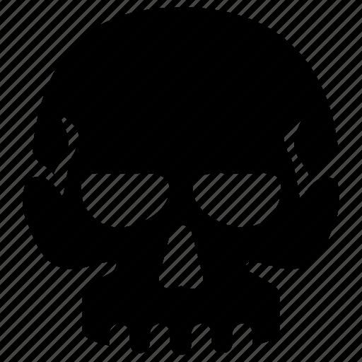 bone, cranium, halloween, skeleton, skull icon