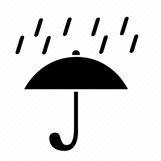 drops, rain, safety, umbrella, weather icon