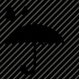 drops, rain, safety, umbrella icon