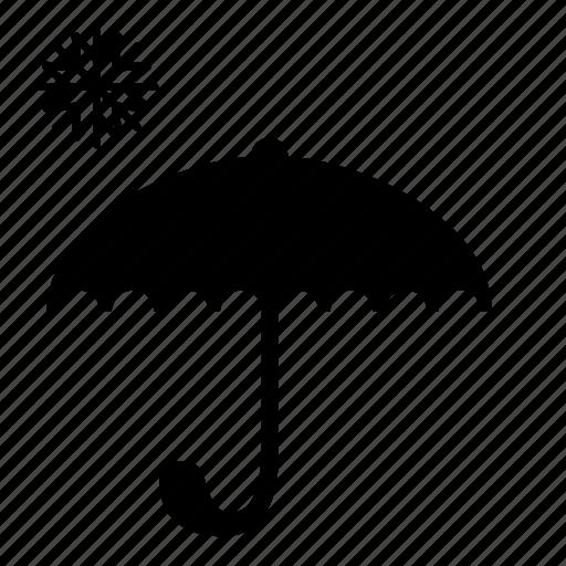 safety, snow, umbrella, weather icon