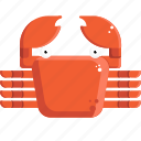 crab, food, sea