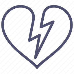 attack, broken, heart, infarct, shock icon