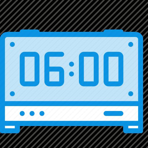 alarm clock, digital, time icon